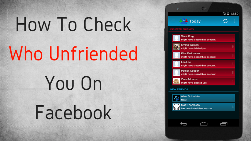 how to check who unfriended you on facebook