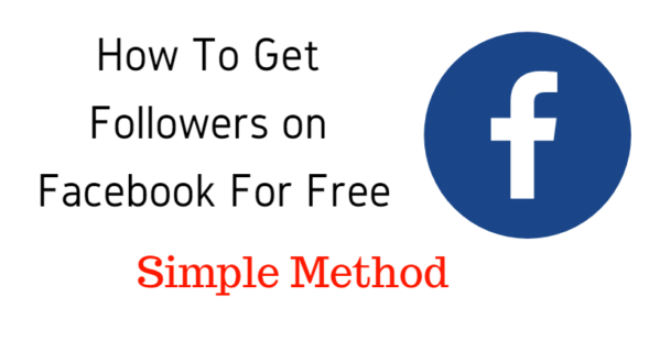 How To Get Followers On Facebook